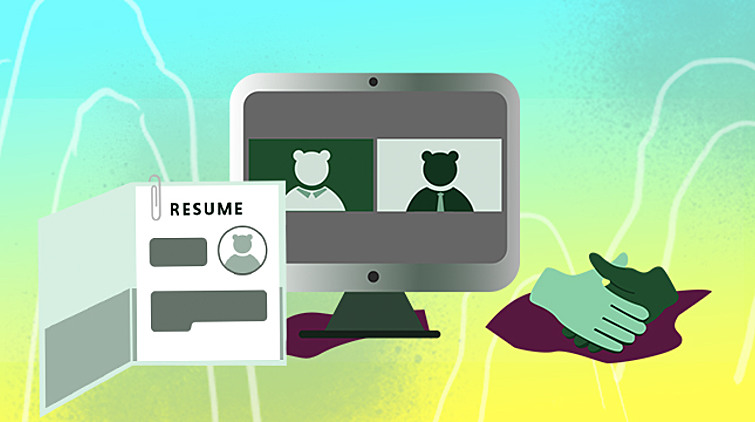 Illustration of resume and peer supports