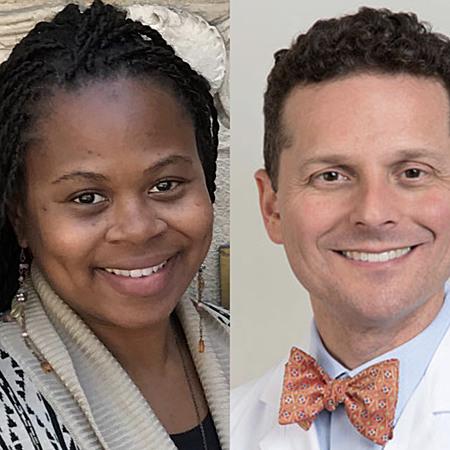 Ayesha Dixon, Director of UCLA Emeriti/Retirees Relations Center with Dr. Brandon Koretz