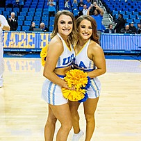 Two UCLA Cheer members