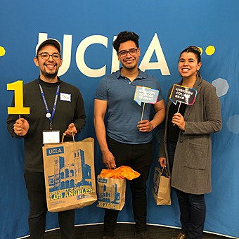 First-Gen students showing their First-Gen pride after winning some prizes.