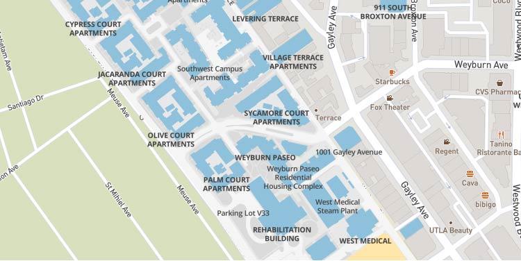 Map of Weyburn Terrace