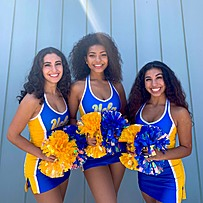 Three UCLA Cheer members