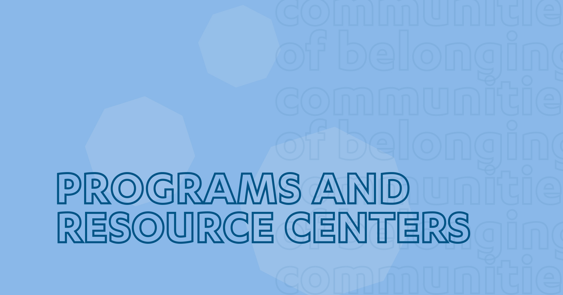 Programs & Resource Centers text thumbnail
