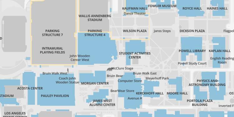 Map of John Wooden